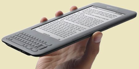 Amazon Kindle 3 in your hand